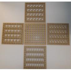 17cm ASSORTED 10pack  REACTIVE PELLET CATCHER INSERTs - to fit 17cm Pellet Catchers.