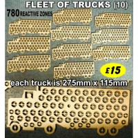 FLEET OF 10 TRUCKS Reactive Targets (780 shoot away zones) NOW ONLY £15  LIMITED OFFER