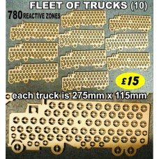 FLEET OF 10 TRUCKS Reactive Targets (780 shoot away zones)  for £15  LIMITED OFFER