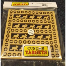 6pack Fairground Rabbit  Shoot REACTIVE TARGET INSERTS for 17cm Pellet Catchers