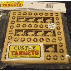 6 PACK   'FAIRGROUND DUCK SHOOT' REACTIVE PELLET CATCHER INSERTS - to fit 14cm Pellet Catchers.