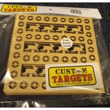 6 pack Fairground  Rabbit Shoot   REACTIVE TARGET INSERTS for 14cm Pellet Catchers
