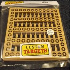Fairground Bottle Shoot  6PACK REACTIVE TARGET INSERTS for 17cm Pellet Catcher