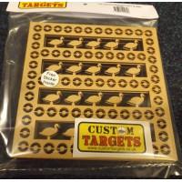 6 pack Fairground Duck Shoot   REACTIVE TARGET INSERTS for 17cm Pellet Catcher