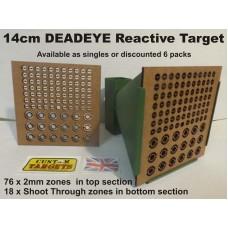 DEADEYE 14cm Reactive Airgun Target  6 PACK
