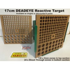 DEADEYE 17cm Reactive Airgun Target ONLY FOR THE BRAVE