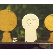 12mm Chalk Target Pins (100)