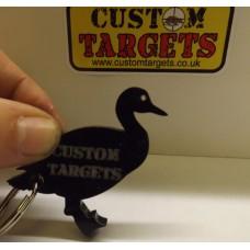 Custom Target Black DUCK  Acrylic Keyring