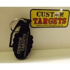 Custom Targets Black Grenade  Acrylic Keyring