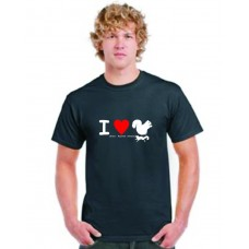 I LOVE SQUIRRELS  (Roasted Fried Stewed) HEAVY T SHIRT black  (small to 5XL)