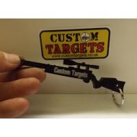 Custom Targets Black RIFLE acrylic KEYRING