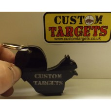 Custom Targets Black Squirrel Acrylic Keyring