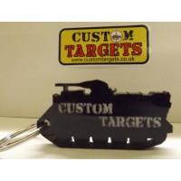 Custom Targets Black Tank Keyring