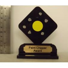 PAINT CHIPPER  Black acrylic Trophy